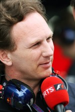 Christian Horner, Red Bull Racing Team Principal interviewed by Sky Sports F1