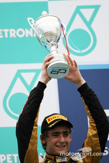 Podium: second place Esteban Gutierrez