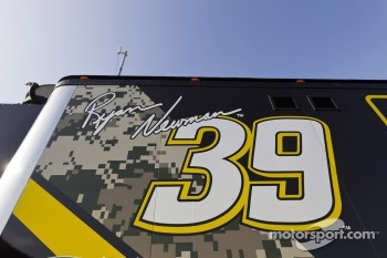 The hauler of Ryan Newman, Stewart-Haas Racing Chevrolet