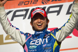 GT500 podium: class and overall winner Kohei Hirate