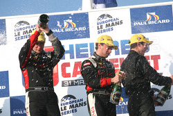 P2 podium: race winners Mathias Beche and Pierre Thiriet