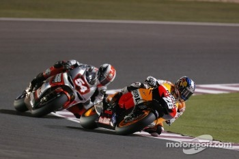 Dani Pedrosa, Repsol Honda Team and Mattia Pasini, Speed Master