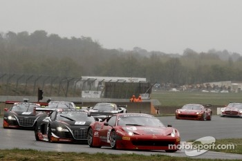 #3 AF Corse Ferrari 458 Italia GT3: Toni Vilander, Filip Salaquarda, #32 Belgian Audi Club Team WRT Audi R8 LMS: Stphane Ortelli, Laurens Vanthoor