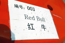 Red Bull Racing freight sticker
