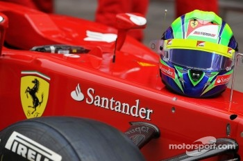 The helmet of Felipe Massa, Scuderia Ferrari at a team photograph