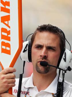 Sahara Force India F1 Team pit stop lollipop holder