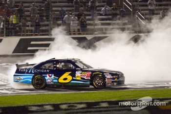 Race winner Ricky Stenhouse Jr., Roush Fenway Ford celebrates