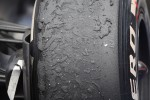 Rubber on a tyre