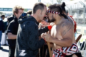 Greg Murphy with a Maori warrior
