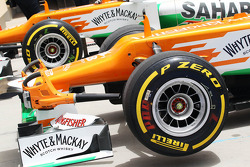 Sahara Force India F1s of Paul di Resta, and Nico Hulkenberg (GER)