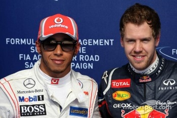 Lewis Hamilton, McLaren Mercedes and Sebastian Vettel, Red Bull Racing