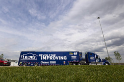 Jimmie Johnson's hauler