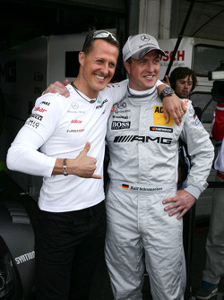 Michael Schumacher with brother Ralf Schumacher