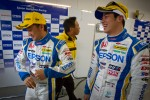 GT500 pole winners Ryo Michigami and Yuki Nakayama