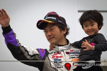 GT300 podium: second place Hiroki Kato
