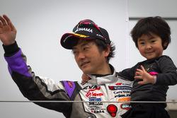 GT300 podium: second place Hiroki Kato