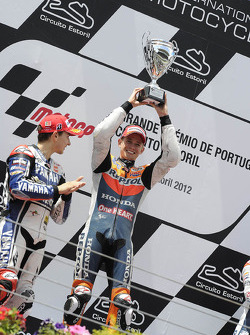 Podium: winner Casey Stoner, Repsol Honda Team, second place Jorge Lorenzo, Yamaha Factory Team