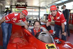 Felipe Massa, Jacques Villeneuve and Fernando Alonso with the 312 T4