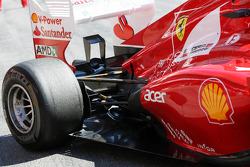 Felipe Massa, Ferrari exhaust and rear suspension detail