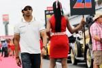 Narain Karthikeyan, Hispania Racing F1 Team, on the drivers parade