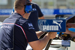 BMW Pit Crew adjusting the rear spoiler before qualifying