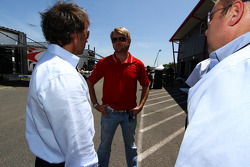 Leigh Diffy and Calvin Fish of Speed chat with Ryan Dalziel of StarWorks Motorsport