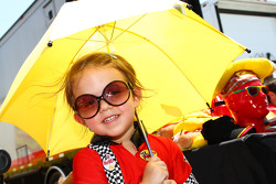 Little Miss Team Sahlen's Umbrella Girl