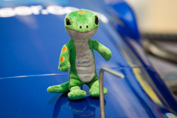 Mascot on the car of Tony Kanaan, KV Racing Technology Chevrolet