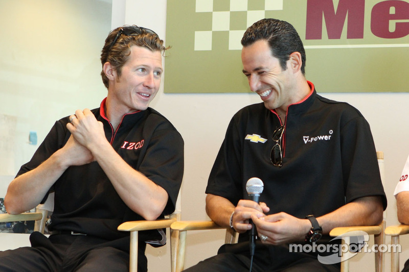 Ryan Briscoe and Helio Ccastroneves, Team Penske Racing