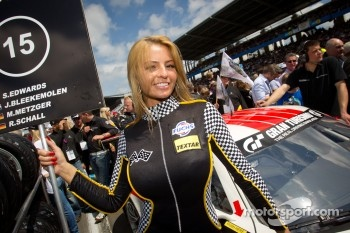 Black Falcon grid girl
