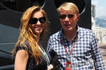 Mika Hakkinen, with girlfriend Marketa Kromatova