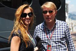 Mika Hakkinen, with girlfriend Marketa Kromatova