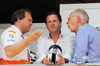 Bob Fernley, Sahara Force India F1 Team Deputy Team Principal with Michiel Mol, Sahara Force India F1 Team Co-Owner