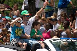 Indy 500 festival parade: Michel Jourdain, Rahal Letterman Lanigan Honda