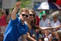 Indy 500 festival parade: James Jakes, Dale Coyne Racing Honda