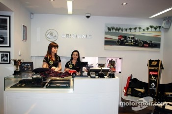 The opening of the Lotus shop
