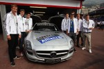 The German National Football Team with the FIA Safety Car