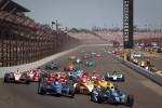 Restart: Alex Tagliani, Team Barracuda - BHA Honda and Tony Kanaan, KV Racing Technology Chevrolet