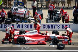 Pit stop for Justin Wilson, Dale Coyne Racing Honda