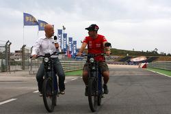 Alessandro Dragosei, Eurosport and Tiago Monteiro, SEAT LeonWTCC, Tuenti Racing Team