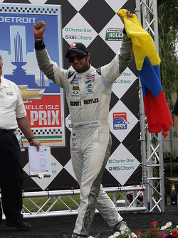 Race winner Gustavo Yacaman