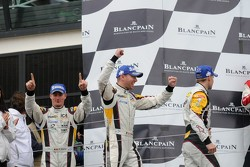 Podium: winners Maxime Martin, Bas Leinders, Markus Palttala