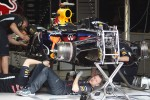 Red Bull Racing mechanics build the Red Bull Racing of Sebastian Vettel (GER)