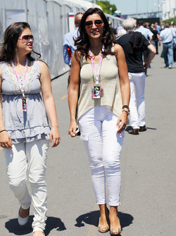 Fabiana Flosi, fiance of Bernie Ecclestone, CEO Formula One Group (FOM)