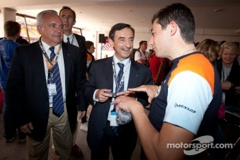 Oak Racing team manager Sébastien Philippe with ACO President Pierre Fillon