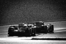 #13 Rebellion Racing Lola B12/60 Coupe Toyota: Andrea Belicchi, Harold Primat, Jeroen Bleekemolen, #3 Audi Sport Team Joest Audi R18 Ultra: Marc Gene, Romain Dumas, Loic Duval