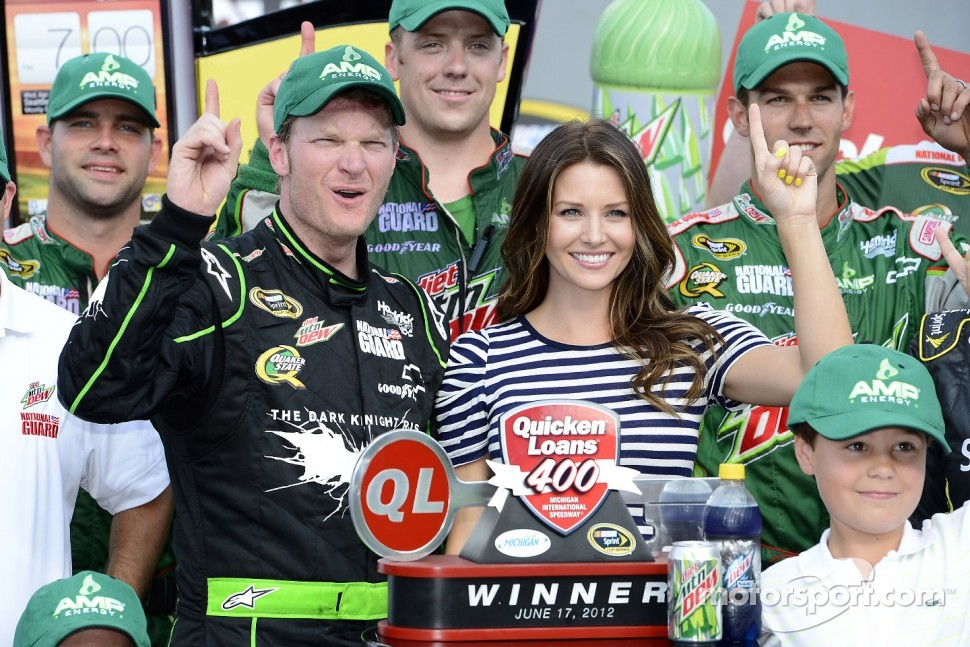 Victory lane: race winner Dale Earnhardt Jr., Hendrick Motorsports Chevrolet