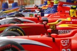 GP2 cars in parc ferme