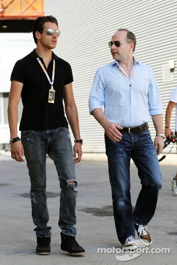 Adrian Sutil, with his manager Manfred Zimmerman, CMG
