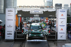 Podium: Paulo Nobre and Edu Paula, Mini John Cooper Works WRC